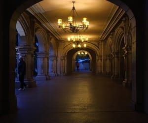 architecture, corridor, and lights image