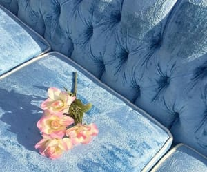 blue, flowers, and aesthetic image