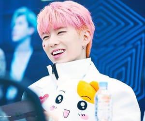 asian, eyes, and pink hair image