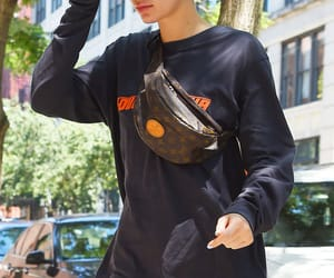 fashion, street style, and fanny pack image