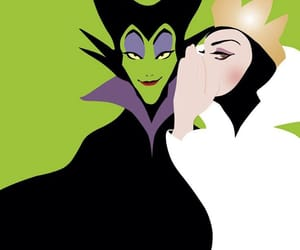 disney, maleficent, and evil queen image