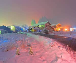 snow, photography, and glow image