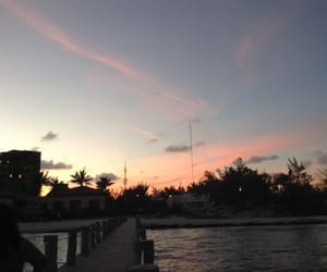 atardecer, beach, and sky image