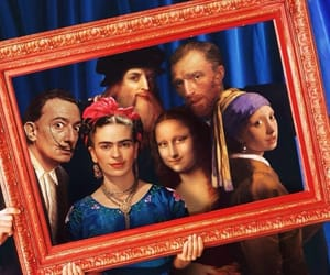 dali, Frida, and funny art image