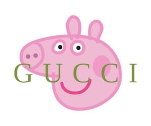 gucci, trendy, and peppa pig image