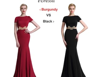 short sleeves, stylish, and formal gown image