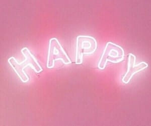 happy, pink, and light image