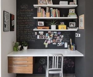 desk, room, and home image
