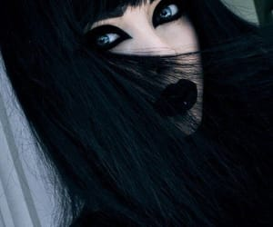 girl, goth, and black image