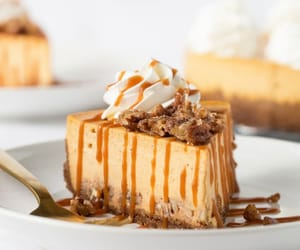 cheesecake, desserts, and pumpkin image