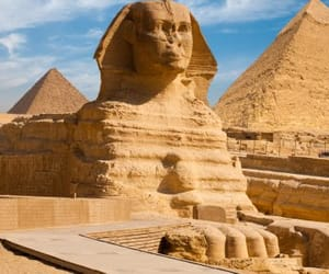 sphinx, giza, and egypt image
