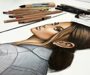 art, artwork, and fashion drawing image