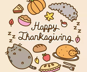 thanksgiving, pusheen, and food image