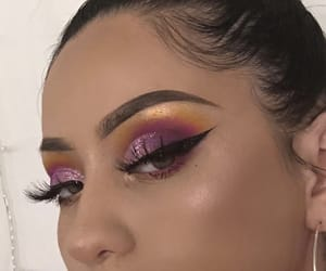 colorful, highlight, and makeup image