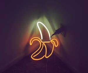 banana, neon, and neon signs image