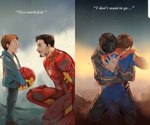 Marvel, spiderman, and iron man image