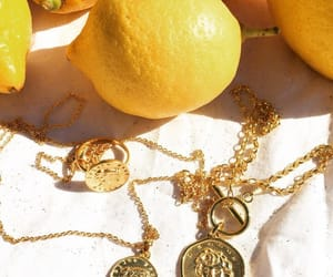 fruit, gold, and jewelry image