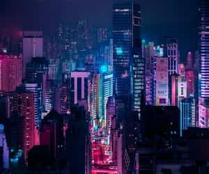 city, aesthetic, and neon image