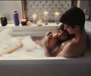 bath, cute, and couple image