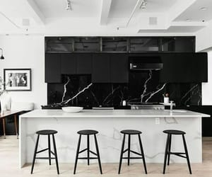 black, design, and interior image
