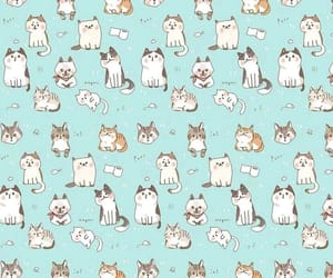 background, cats, and kawaii image