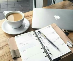 coffee, study, and apple image