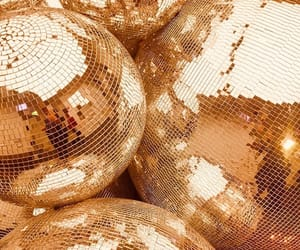 disco ball and gold image