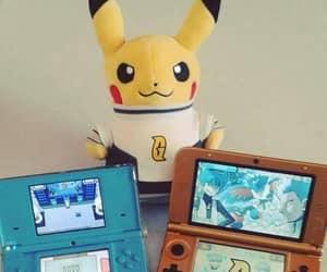 nintendo ds, pikachu, and pokemon image