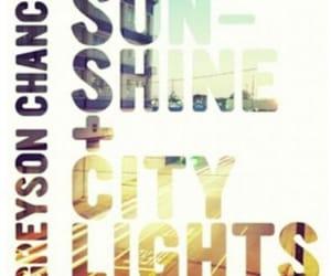 greyson chance and sunshine & city lights image
