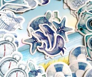 nautical, blue tone, and blue whale image