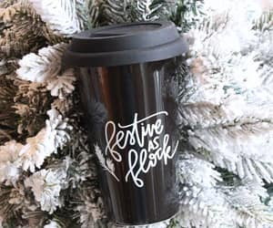 Christmas time, christmas tree, and coffee image