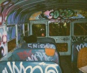 grunge, bus, and graffiti image