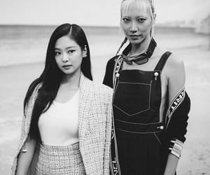 beautiful, black and white, and chanel image