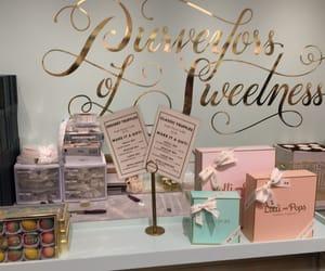 &, chocolate, and macaron image