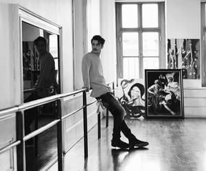 black and white, fashion, and man image