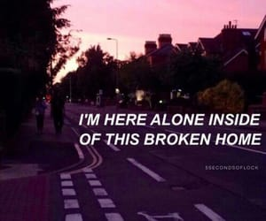alone, broken, and quotes image