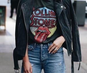 biker jacket, denim, and fashion image