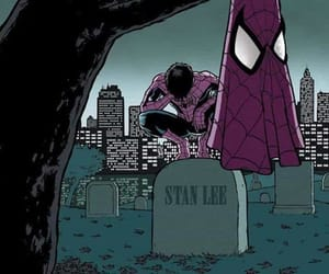 Marvel, stan lee, and spiderman image