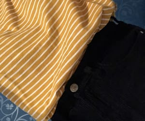 outfit, yellow, and stripes image
