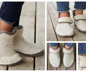 knit, slippers, and moc shoes image