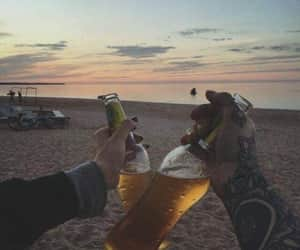 beer, beach, and summer image