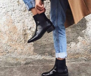 ankle, black, and boots image