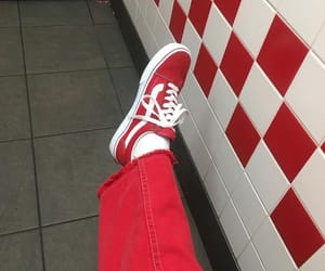 red, vans, and aesthetic image