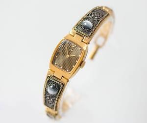 etsy, women watch bracelet, and black face watch image