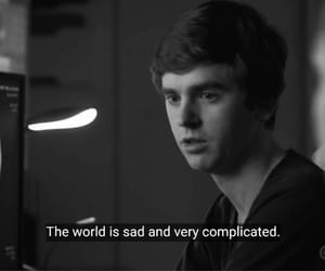 sad, tv quotes, and the good doctor image