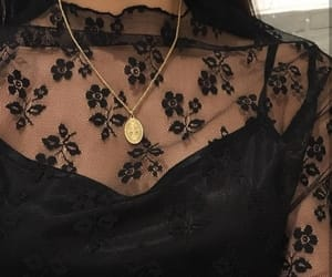 black clothes, lace, and jewelry image