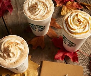 autumn, coffee, and starbucks image