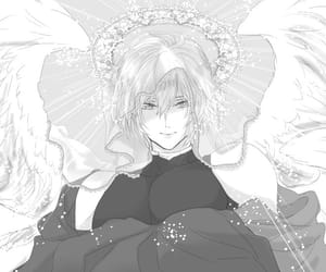 angel, anime, and black image