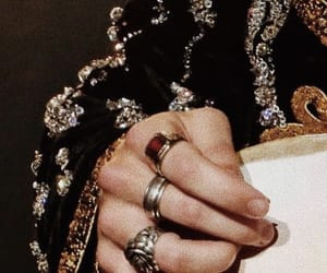 Harry Styles, rings, and hands image