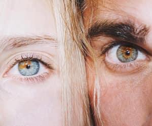 eyes, boy, and couple image